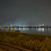Antwerp Harbor by Night